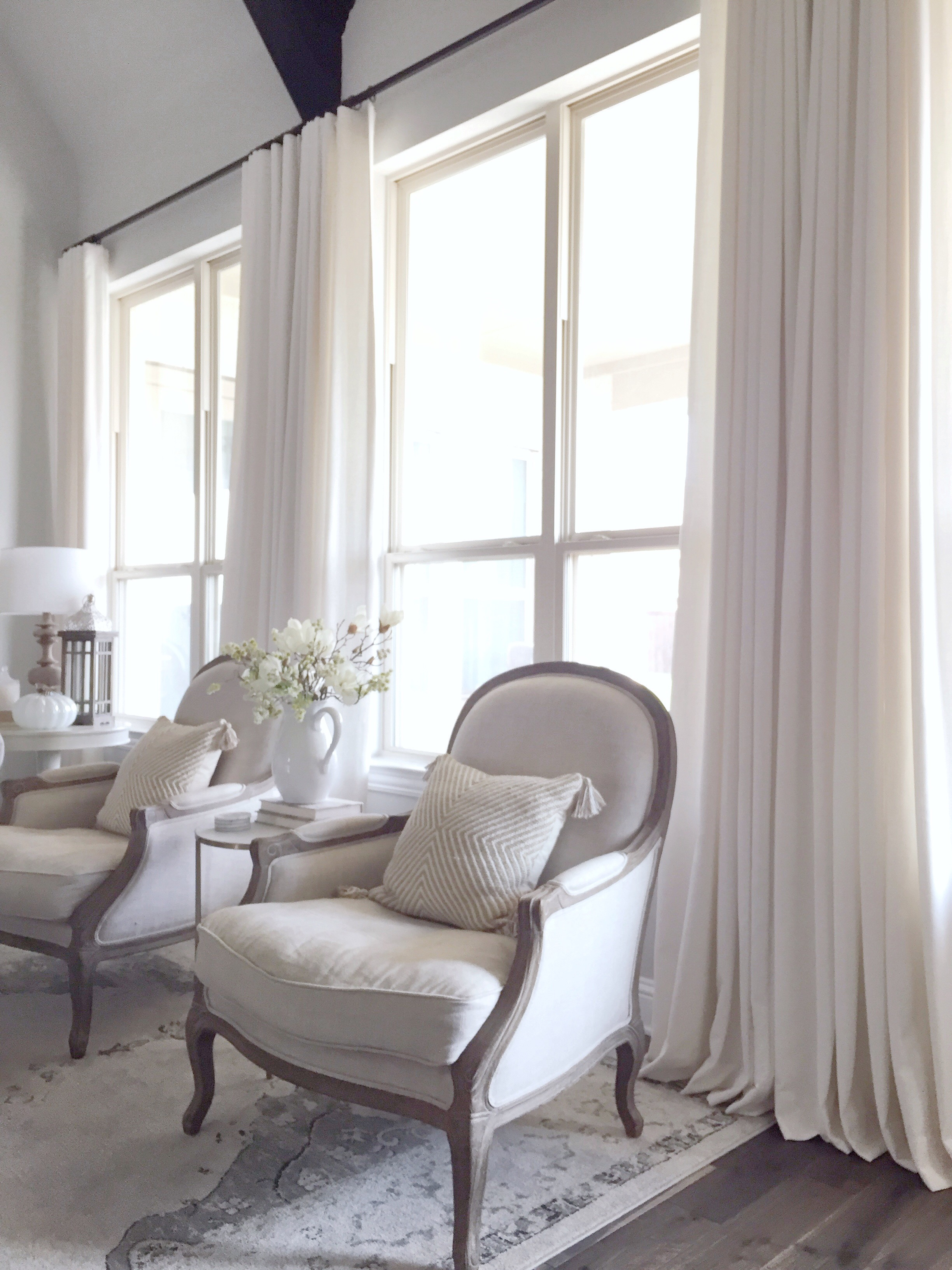 Finishing Touch: Living Room Window Treatments with Premier Curtain ...